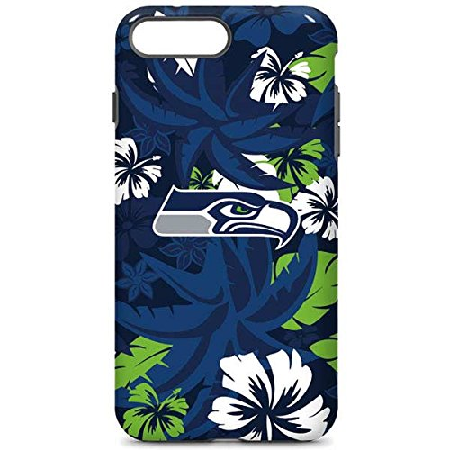 check out 6151c 4b121 Skinit NFL Seattle Seahawks iPhone 8 Plus Pro Case - Seattle Seahawks  Tropical Print Design - High Gloss, Scratch Resistant Phone Cover