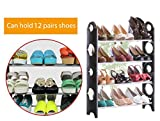 Anva Boss Shoe Rack Stand Holds APPROX 16 Pairs with 4 layers Portable Foldable