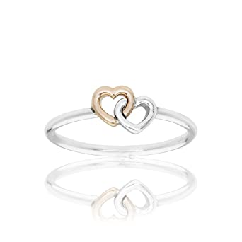 dd6ff1bbb Image Unavailable. Image not available for. Color: Pandora Heart to Heart  Silver & Gold Ring 19092754