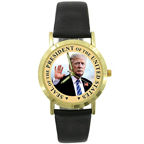 Seal of The President Donald Trump Watch - Quartz Timepiece w/Black Band -