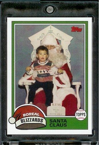 2007 Topps Santa Claus Baseball Card # 11 Santa At The Mall (1981 - Mall At Of The America Stores