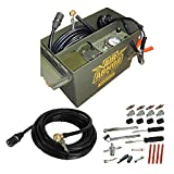 4x4 truck tires - 12 Volt Military Inspired Tire Inflator, Portable Air Compressor Tire Care and Repair System Packed in A Sturdy Water Resistant Ammo Can. Perfect for Jeep, 4 x 4, Off Road Tires