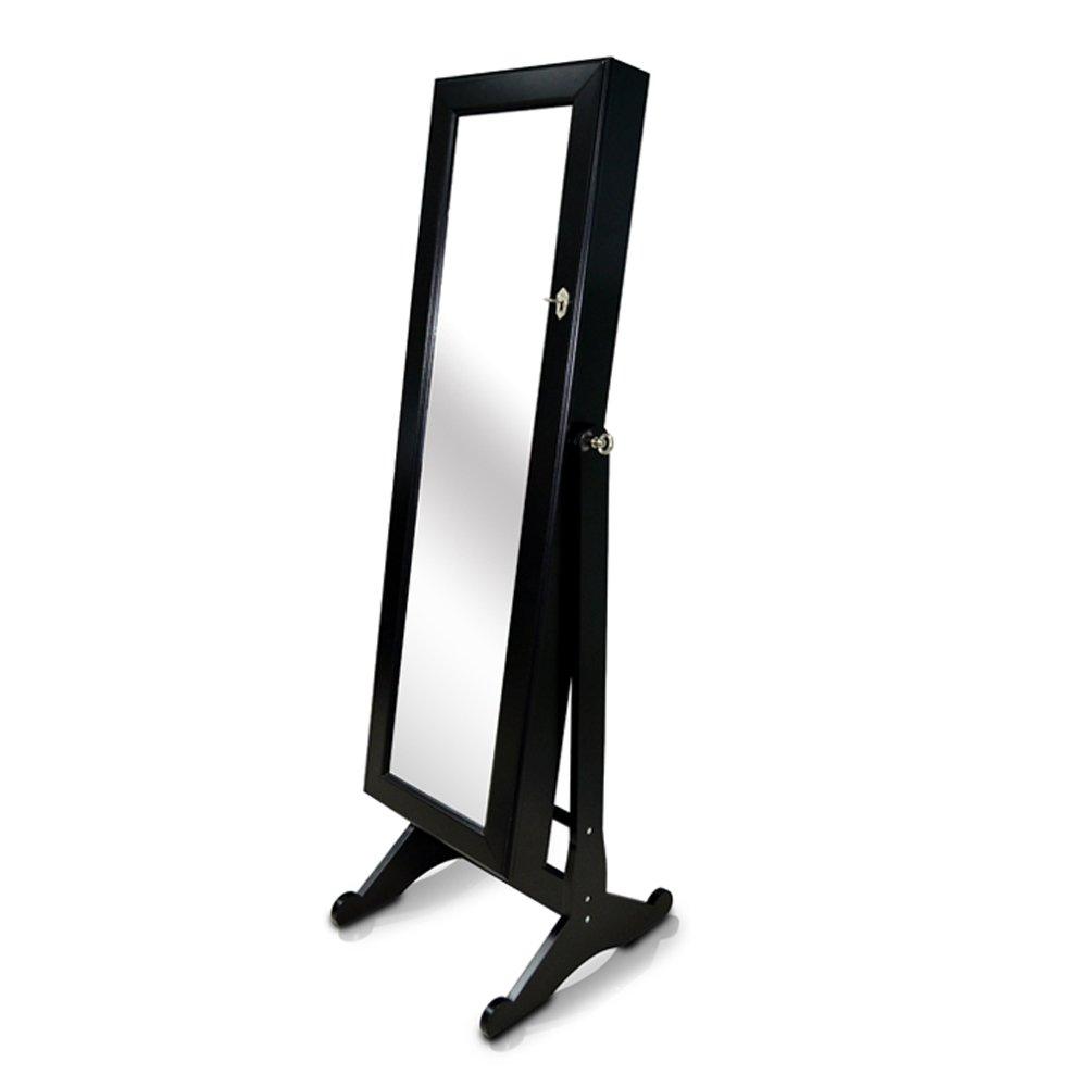 Amazon.com: Organizedlife Black Mirrored Jewelry Cabinet Armoire ...