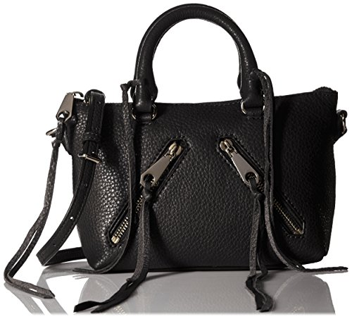 Rebecca Minkoff Micro Moto Satchel Cross Body Bag, Black, One Size