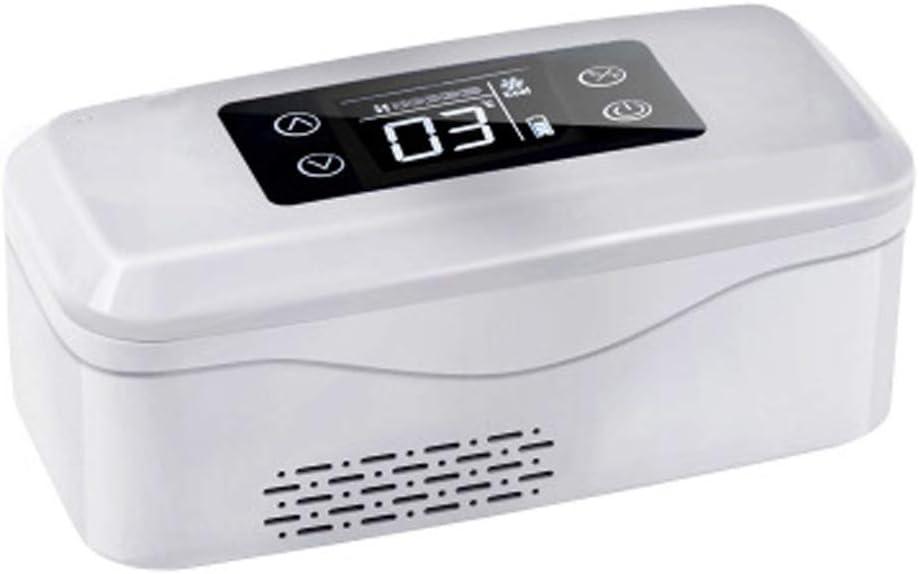 ICEミニカー冷蔵庫ポータブルインスリン冷却ボックスサーモスタット冷凍車ミニ充電式小型冷蔵庫は、保冷と断熱