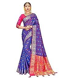 ELINA FASHION Indian Sarees for Women Patola Art Silk Woven Work Saree,Sari