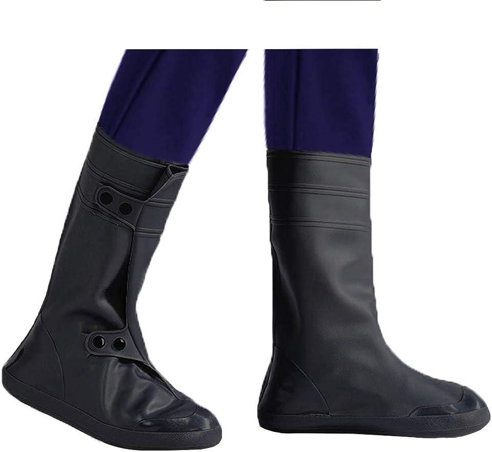Odowalker Waterproof Rain Gear Zipper Rain Shoe Covers Reusable Clear Non-Slip Over Boots Rain Cover for Man & Woman