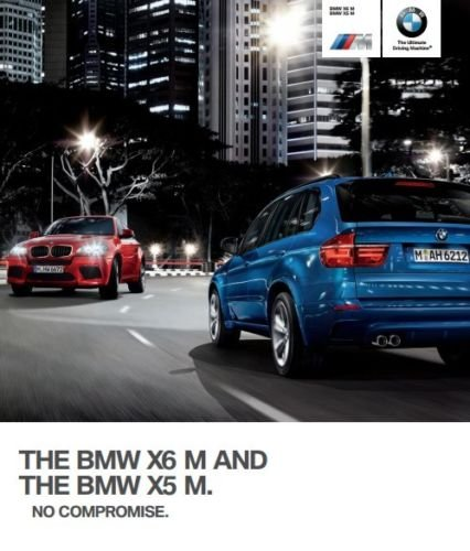 2013 BMW X6 M and X5 M 40-page Car Dealer Sales Brochure Catalog