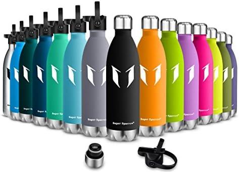 Amazon.com: Botella de agua y bebidas de acero inoxidable de ...
