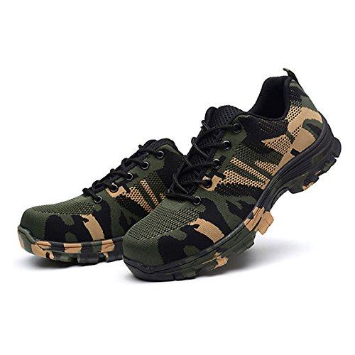 CHNHIRA Chaussures de Sécurité Homme Embout Acier Protection Confortable Léger Respirante Unisexes Chaussures de Travail 5