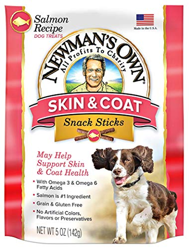 Newman's Own Functional Snack Sticks for Dogs, Skin & Coat, Salmon Recipe, 5-oz. (Pack of ()