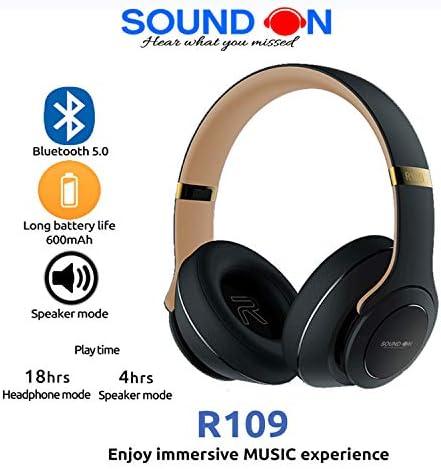 'SOUND ON' Wireless/Wired Headphone   TWIST OUT SPEAKER   18
