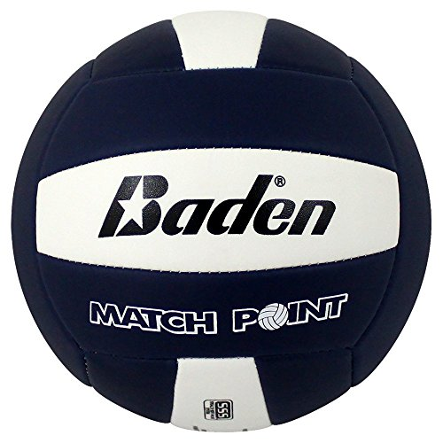 Molten Lite Volleyball - Baden MatchPoint Official Size 5 Cushioned Volleyball, Navy/White