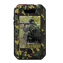 R MAO-Aluminum Metal Case for iPhone 4/4S[Camouflage Army],[Military Heavy Duty]Camo,Waterproof/Shockproof Gorilla Glass Protection Cover Case