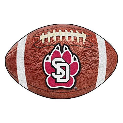 FANMATS NCAA University of South Dakota Coyotes Nylon Face Football Rug