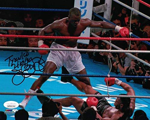 Buster Douglas Autographed/Signed Boxing 8x10 Photo Tyson KO JSA