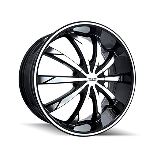 Dip Slack 18 Black Machined Wheel / Rim 5x100 & 5x105 with a 40mm Offset and a 72.62 Hub Bore. Partnumber D66-8705M (Chevy Cruze 2011 Rims compare prices)