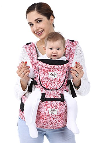 BABY STEPS Best Adjustable Baby Carrier (Red) - 3