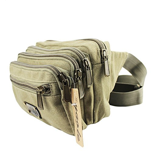 Sport Waist Bag 4-Zipper Fanny Pack Bag with Adjustable Strap for Running Fitness Cycling Hiking Travel Camping Sports by ezyoutdoor