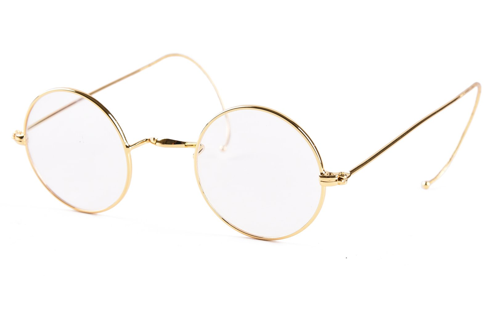 03dfae3caf7 Agstum Retro Small Round Optical Rare Wire Rim Eyeglasses Frame 39mm (Gold