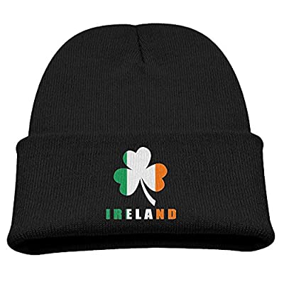 ZWZ Irish Ireland Flag Clover Kid's Hats Winter Funny Soft Knit Beanie Cap, Unisex