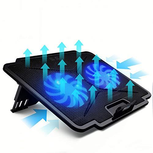 USB Laptop Cooler met Mute Double Fans Usb Notebook Cooler Laptop Stand voor 13,3~17 inch Laptops Gaming