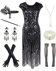 Letter Love Women 1920s Vintage Flapper Fringe Beaded Great Gatsby Party Dress