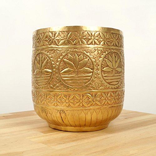 Brass Flower Pot - 7