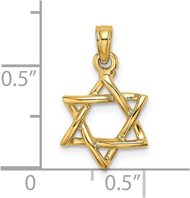 35mm x 8mm Million Charms 14K Two-tone Gold with White CZ Accented Saint Jude Thaddeus Charm Pendant