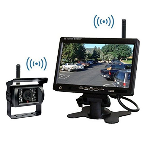 7 inch High Resolution 800*480 LCD Monitor DC 12-24V BW 7 inch Bus Lorry Truck Car Parking kit Bus Lorry Car Rearview Backup Camera with free 6m Video Cable