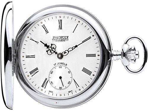 Sterling Silver Full Hunter Pocket Watch - 17 Jewel Mechanical Movement - Luxury
