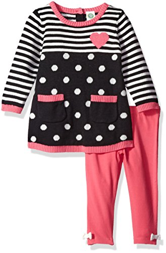 Dress Me Clothing (Little Me Baby Girls' Sweater Tunic Set, Pink/Multi,)
