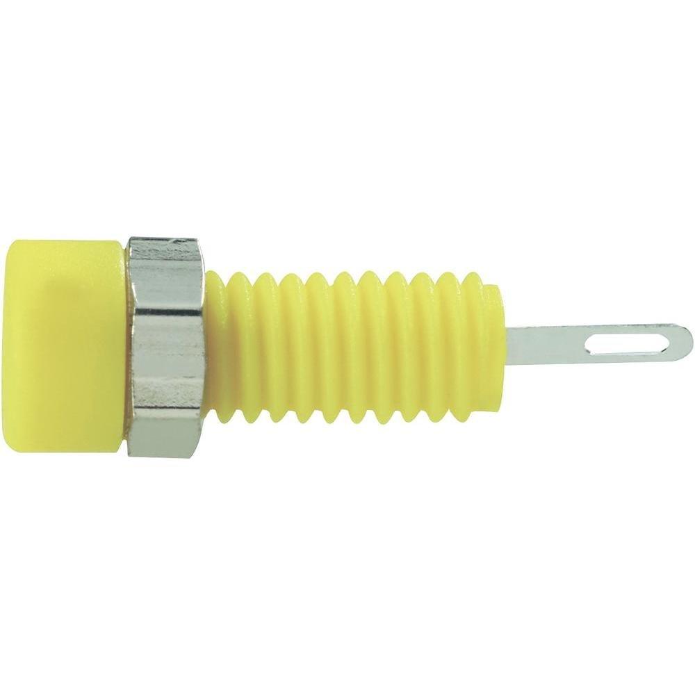 SKS Hirschmann MBI 1 Miniatur-Laborbuchse Buchse 2 mm Einbau vertikal Stift-Ø