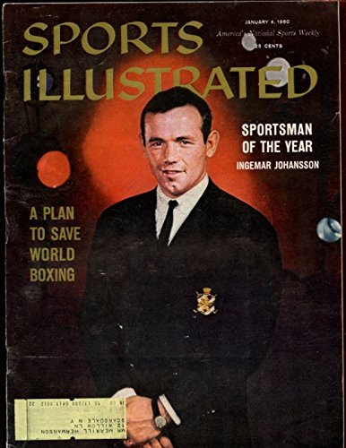 Jan 4 1960 Sports Illustrated Magazine With Ingemar Johansson Cover Ex+