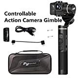 Feiyu G6 3-Axis Stabilized Handheld Gimbal Splashproof Mini Stablizer for Sony RX0 GoPro Hero 6/Hero 5 Action Camera,WIFI Bluetooth Connection,No Block in visual,Updated Version of G5