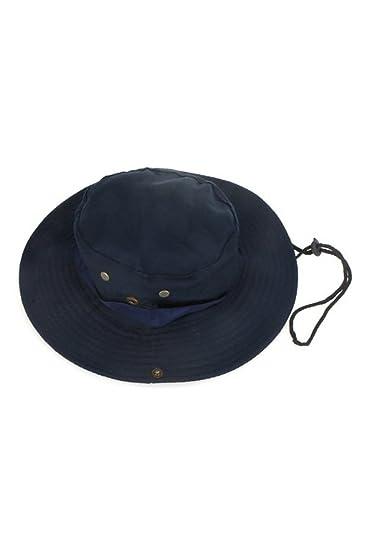 e2deeb3168c TOOGOO(R) Outdoor Fishing Camping Hiking Sun Cap Round Rim Men Women Hat  Dark Blue  Amazon.in  Sports