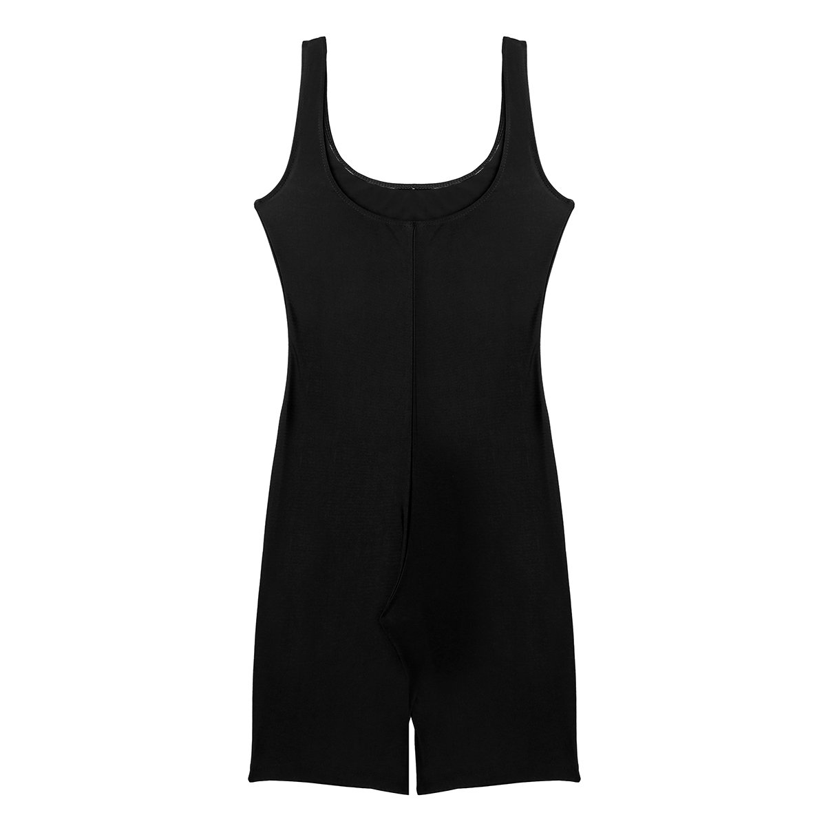 7c7253a39b Amazon.com  FEESHOW Womens Catsuit Stretch Knee Length Active One Piece  Short Yoga Bodysuit Jumpsuit  Clothing