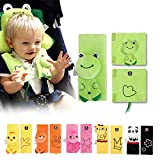 Alamana Angel Baby Cute Chick Panda Frog Infant Stroller Seat Belt Cushion Protective Cover
