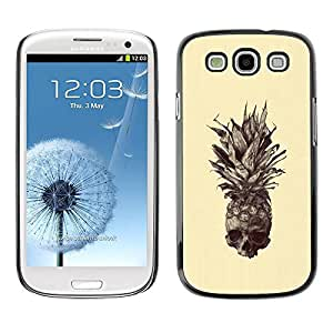 Paccase / SLIM PC / Aliminium Casa Carcasa Funda Case Cover - Skull Tattoo Art Drawing - Samsung Galaxy S3 I9300