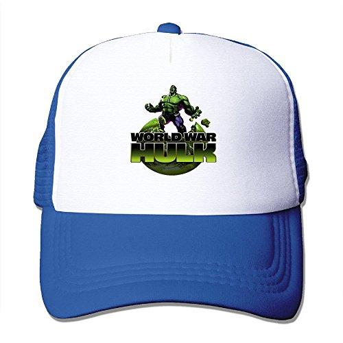 Cool The Incredible Hulk Trucker Cap Baseball Hat (5 Colors) RoyalBlue
