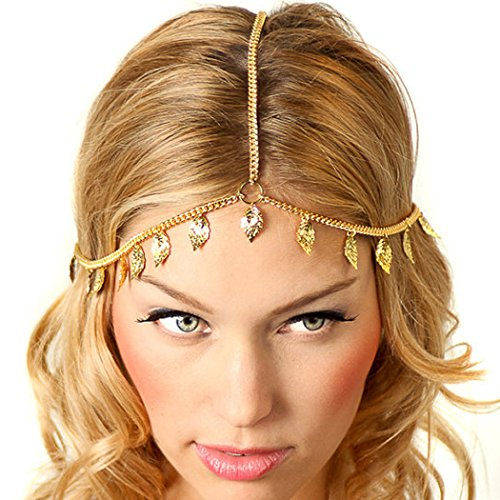 Togas For Women (Jovono Womens Headband Head Chain with Alloy leaf for Women and Girls)