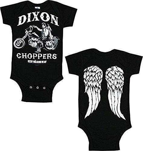 Walking Dead Daryl Dixon Chopper Black Baby Romper Snapsuit, 18 Months ()