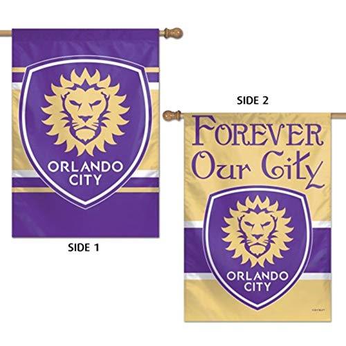 Orlando City SC Lions WC Premium 2-sided 28x40 Banner House Flag MLS Soccer Club]()