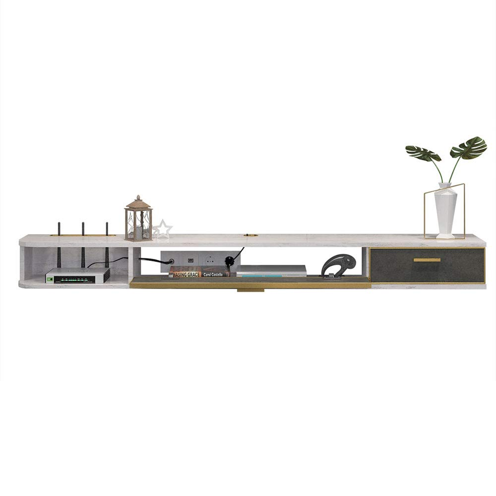 Modern Wall TV Cabinet, Floating Display Shelf, Home Decorative Storage Organizer Tv Stand, Length 140cm by wall shelf