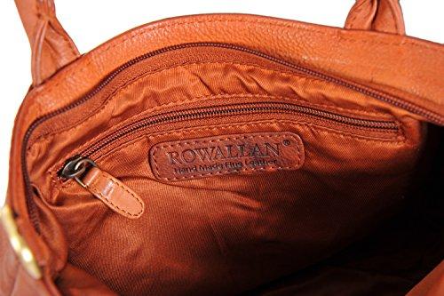 Rowallan, Borsa a spalla donna Marrone Tan M