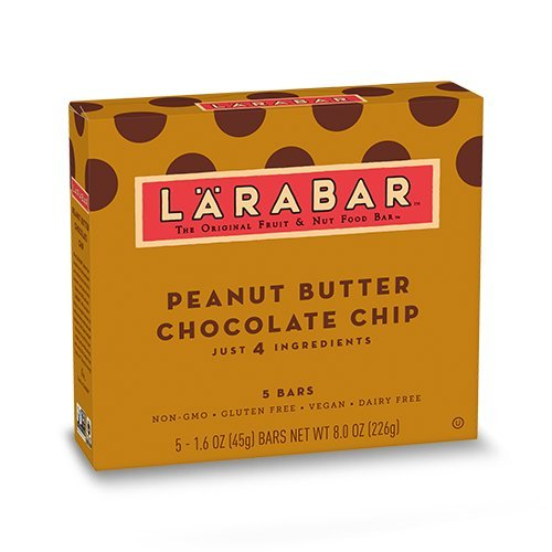 (Larabar Gluten Free Bar, Peanut Butter Chocolate Chip, 1.6 oz Bars (5 Count), Whole Food Gluten Free Bars, Dairy Free Snacks)