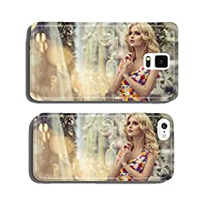 Fashion woman in dress of flowers cell phone cover case iPhone5
