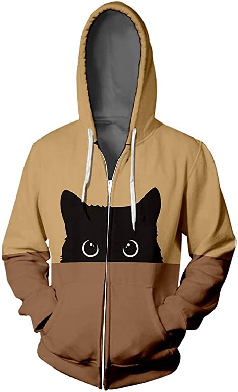 lovever Mens Lightweight Hoodies Fleece Jacket Full Zipper Sweatshirt