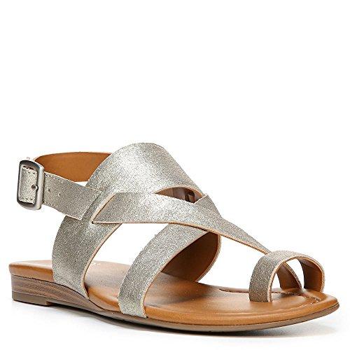 Franco Sarto Mujeres Gia Sandal Platino Stardust Leather