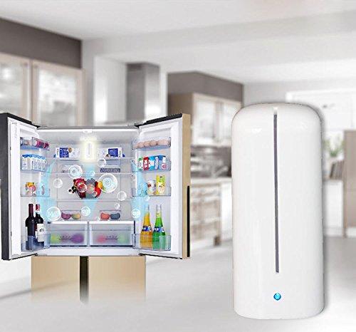 Refrigerator Air Purifier Sterilizing Deodorizer Activated Oxygen Freshener & Deodorize Remove Odor Smell,Bacteria Portable Ozone Air Cleaner mini Freshener Generator Ionic Odor Eliminator Wireless -